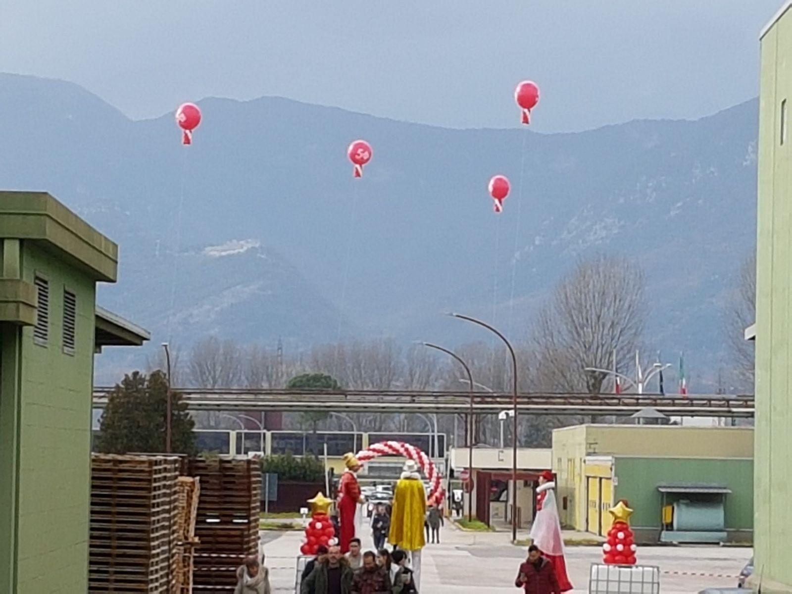 mongolfiere palloncini
